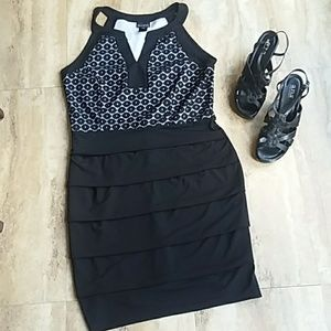 Slimming comfortable black dress